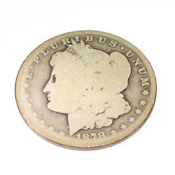 1878-CC U.S. Liberty Head Silver Dollar Coin