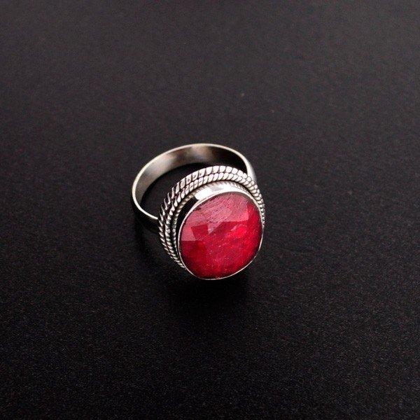 APP: 4.6k 9.38CT Ruby & Sterling Silver Ring