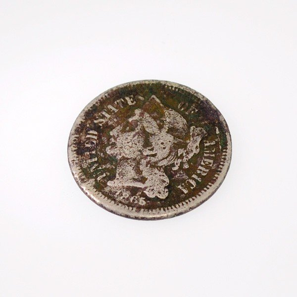1865 U.S. Liberty Head 3 Cent  Coin - Investment