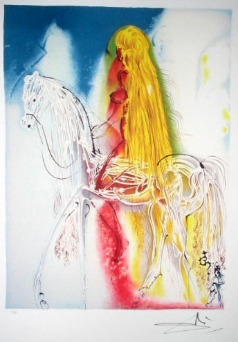 SALVADOR DALI Lady Godiva Print, Limited Edition