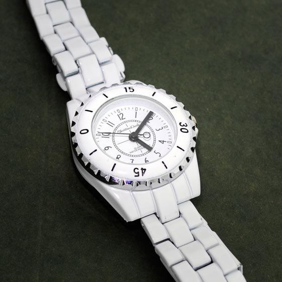 Montres Carlo Women White Metal (water Resistant) Watch