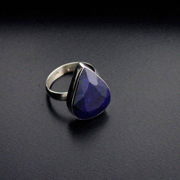 APP: 3.4k 19.73CT Blue Sapphire & Sterling Silver Ring