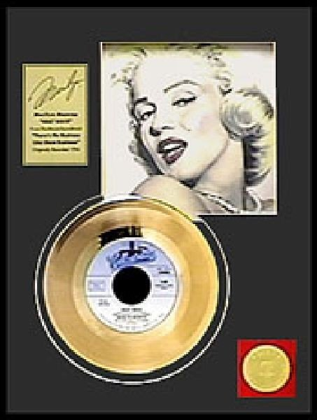 "MARILYN MONROE ""Heat Wave"" Gold Record"