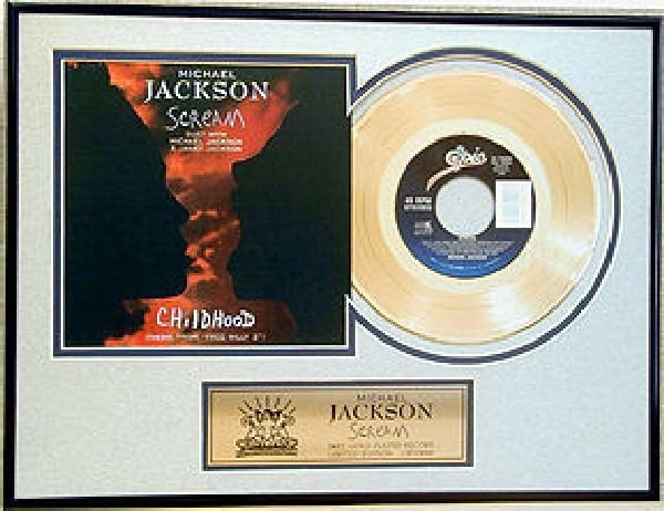 "MICHAEL JACKSON ""Scream"" Gold Record"