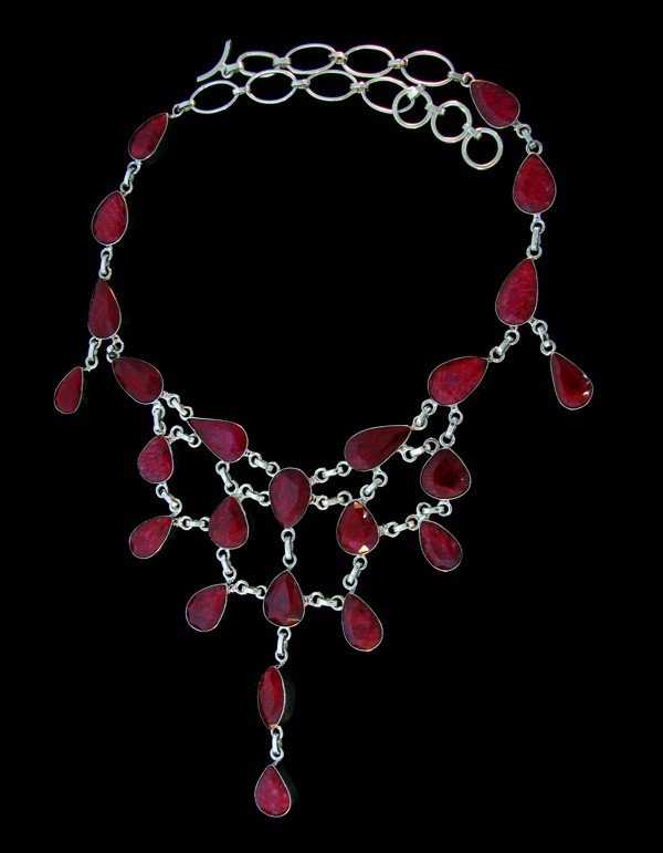 APP: 103.1k 197.39CT Ruby & Sterling Silver Necklace6