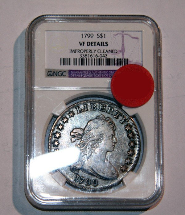 1799 Busted Liberty Silver Dollar Coin - Investment