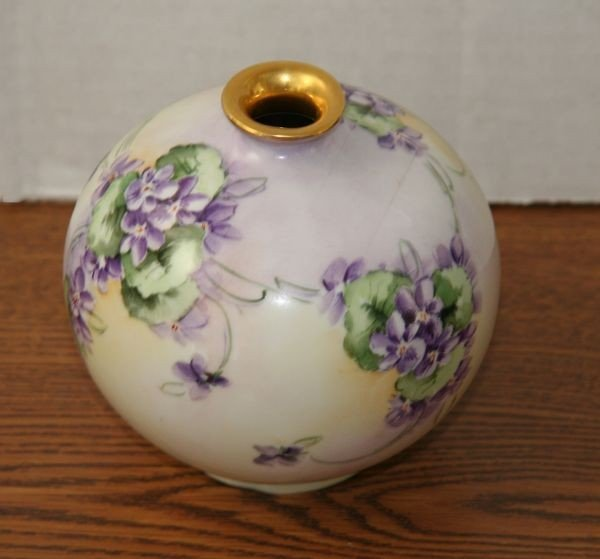 Early Victorian Hand Painted Vase