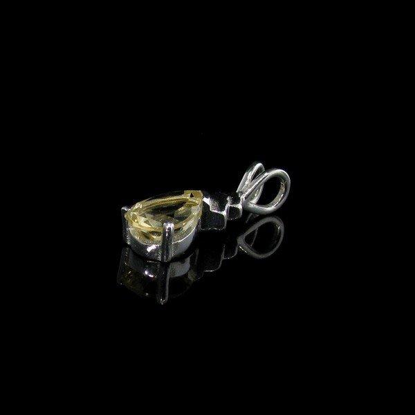 Citrine & Sterling Silver Pendant