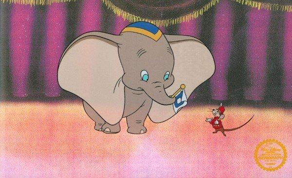 Disney Cel, Dumbo On Stage w/Certificate
