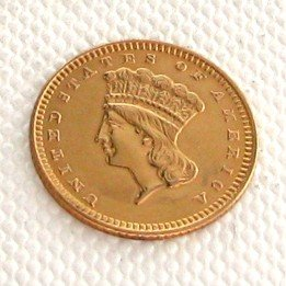 1873 $1 U.S. Indian Head Gold Coin - Investment