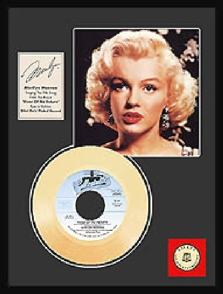 "MARILYN MONROE ""River of No Return"" Gold Record"