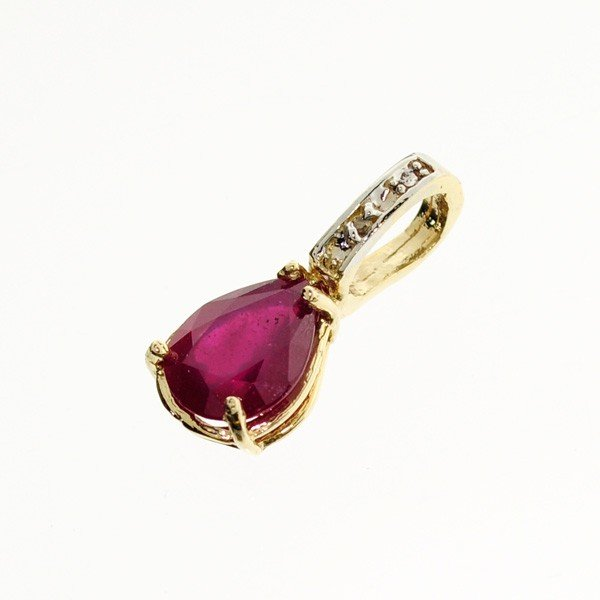 APP: 4.2k 14 kt. Gold, 2.85CT Ruby Pendant