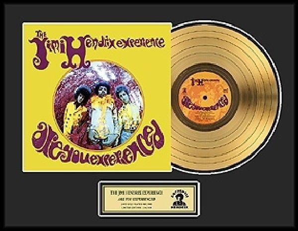 """JIMI HENDRIX """"Are You Experienced"""" Gold LP"""