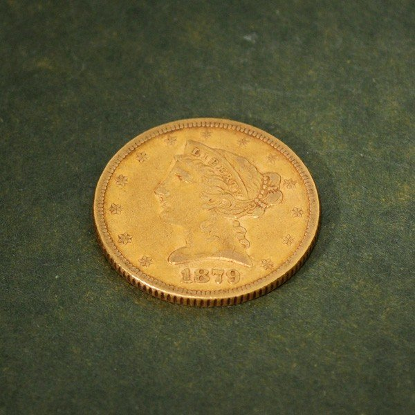 1879 U.S. $5 Liberty Head Gold Coin - Investment