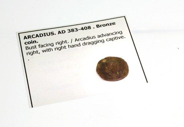 383-408 AD Arcadius Bronze Ancient Coin - Investment