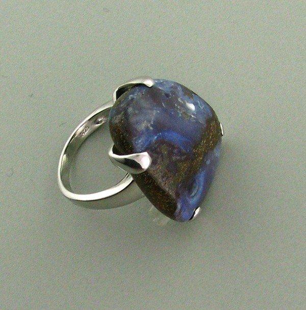 APP: 13.8k 38.29CT Boulder Opal & Sterling Silver Ring