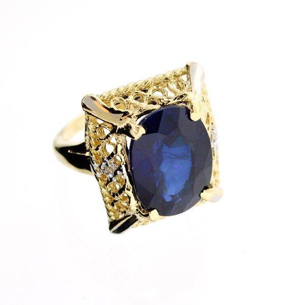 APP: 9.7k 14 kt. Gold,10.14CTBlue Sapphire Ring