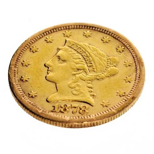 1878-S U.S. $2.5 Liberty Head Gold Coin - Investment