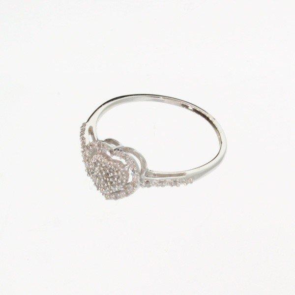 APP: 1.1k 18 kt. Silver, 0.09CT Diamond Ring