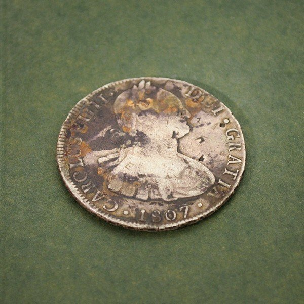 1807 Eight Reales First Silver Dollar Coin - Investment