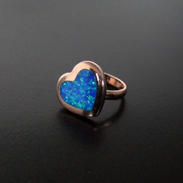 Opal & Overlaid Sterling Silver Ring