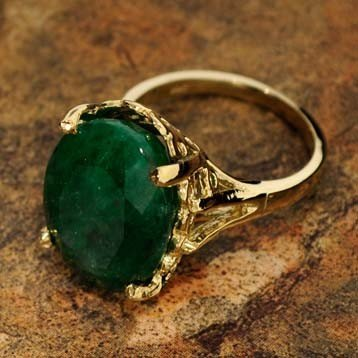 APP: 9k 9.73CT 14 kt. Gold, Emerald Ring