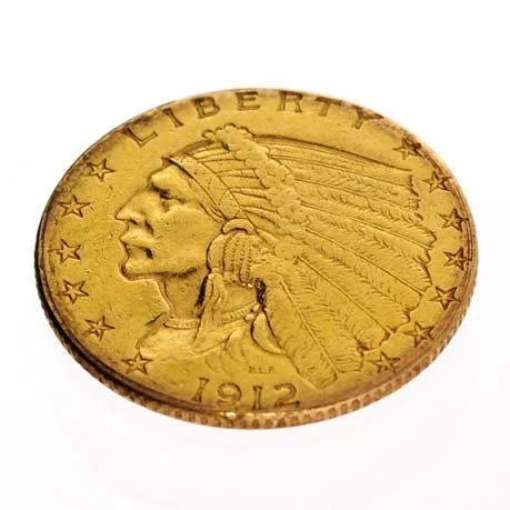 1912 U.S. $2.5 Indian Head Gold Coin - Investment