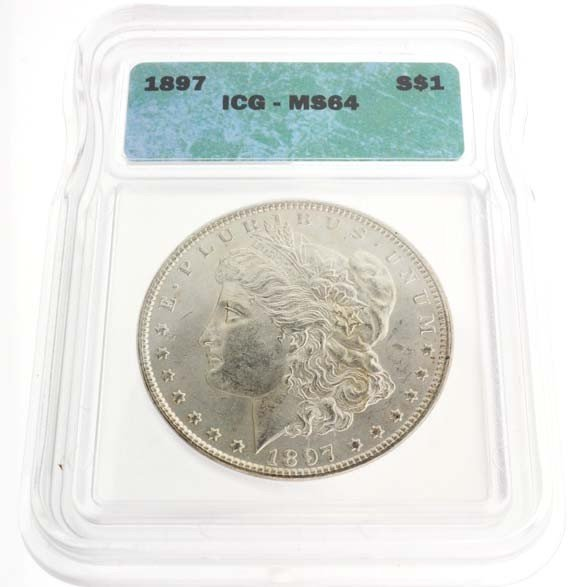1897 U.S. Morgan Silver Dollar Coin - Investment