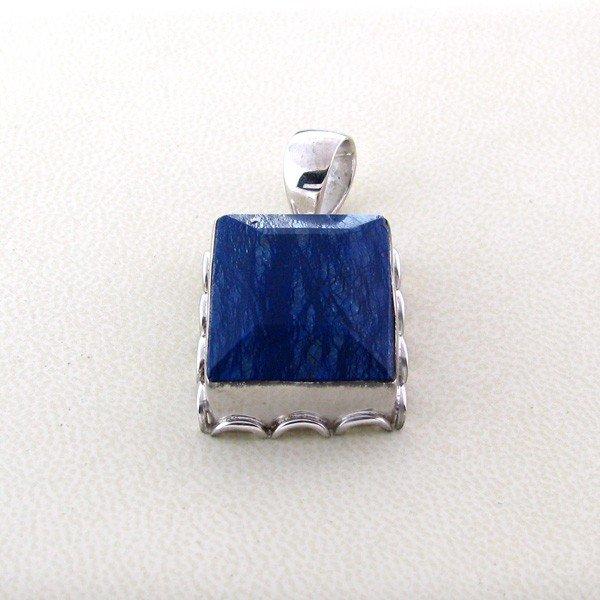 APP: 6k 42.92CT Blue Sapphire & Sterling Silver Pendant