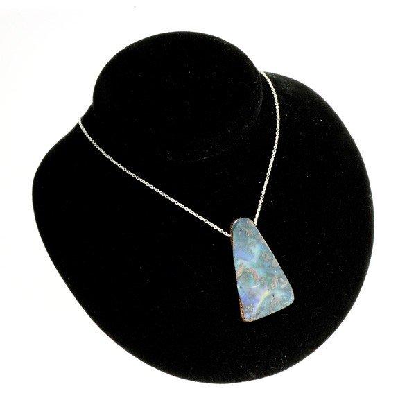 APP: 11.4k Boulder Opal & Sterling Silver Necklace