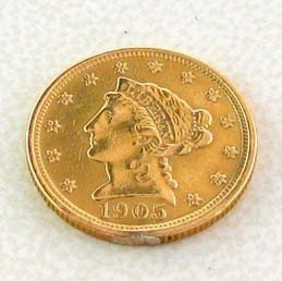 1905 $2.5 U.S. Liberty Head Gold  Coin - Investment