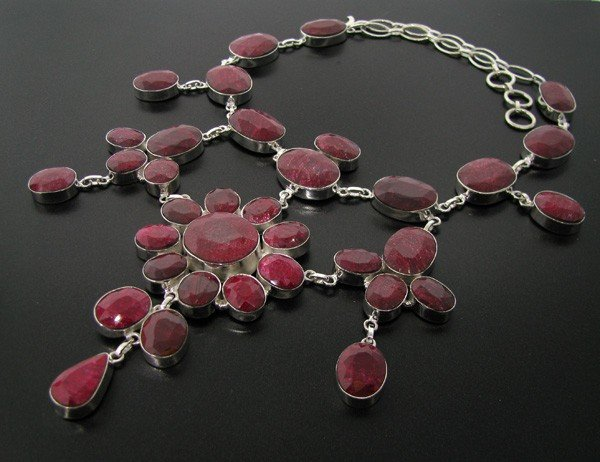 APP: 109.7k 295.03CT Ruby & Sterling Silver Necklace