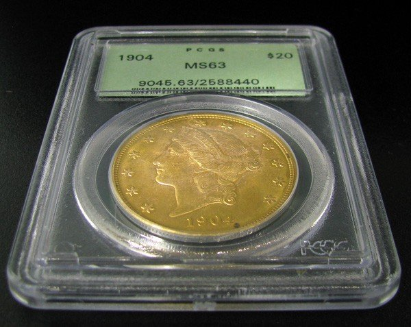1904 $20 U.S Liberty Head Gold  Coin - Investment