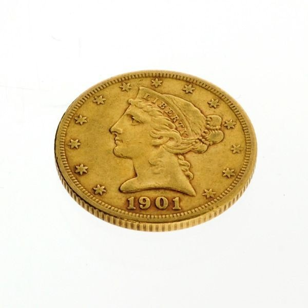1901-S U.S. $5 Liberty Head Gold Coin
