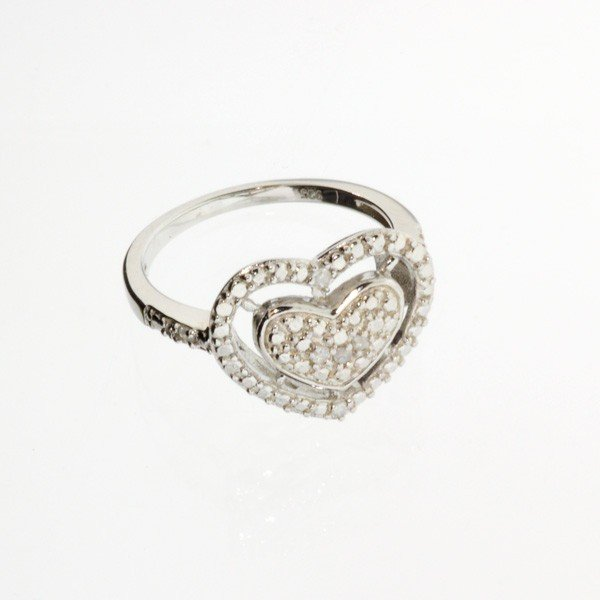 APP: 0k 18kt White Gold & Silver, 0CT Diamond Ring