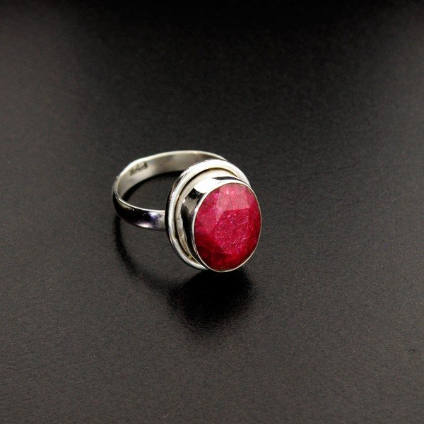 APP: 1.2k 5.34CT Ruby & Sterling Silver Ring