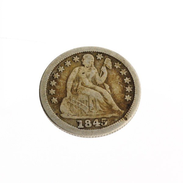 1845 U.S. Seated Liberty Dime Coin - Investment