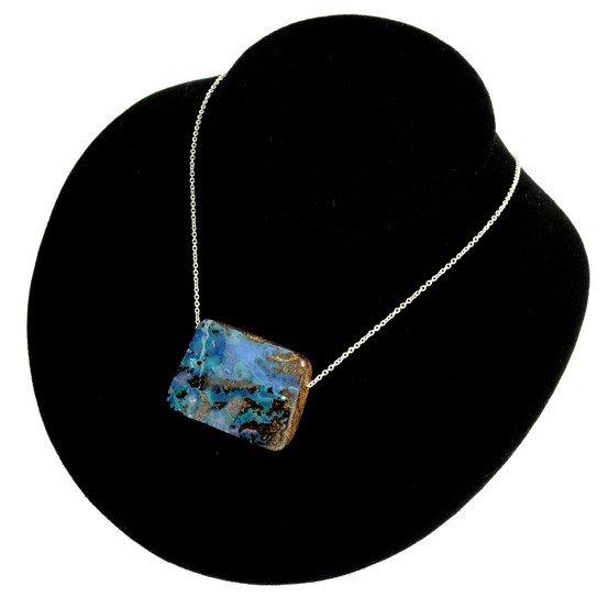 APP: 12k Boulder Opal & Sterling Silver Necklace