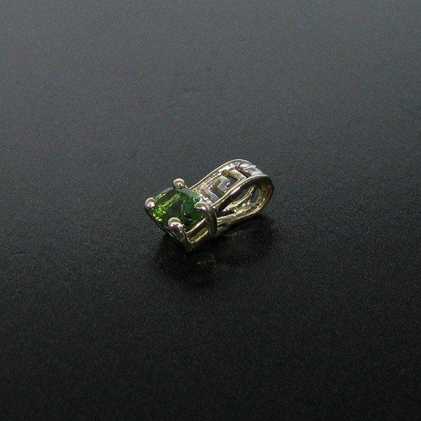 14 kt. Gold, & Green Tourmaline Pendant