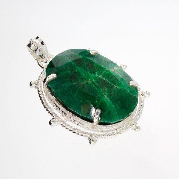 APP: 10.9k 111.73CT Emerald & Sterling Silver Pendant