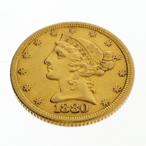 1880 U.S. $5 Liberty Head Gold Coin - Investment