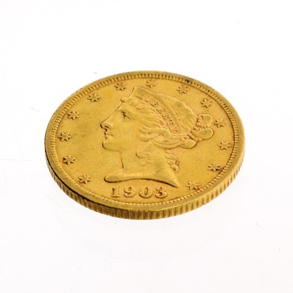 1903-S U.S. $5 1 Head Gold Coin - Investment