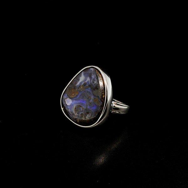 APP: 13.3k 24.41CT Boulder Opal & Sterling Silver Ring