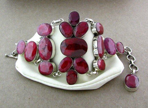 APP: 28.4k 197.79CT Ruby & Sterling Silver Bracelet