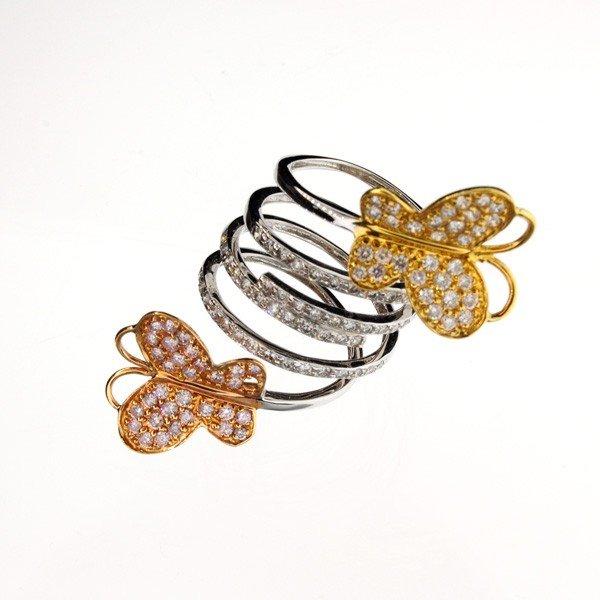 APP: 8k 18kt White Yellow & Rose Gold, 1CT Diamond Ring