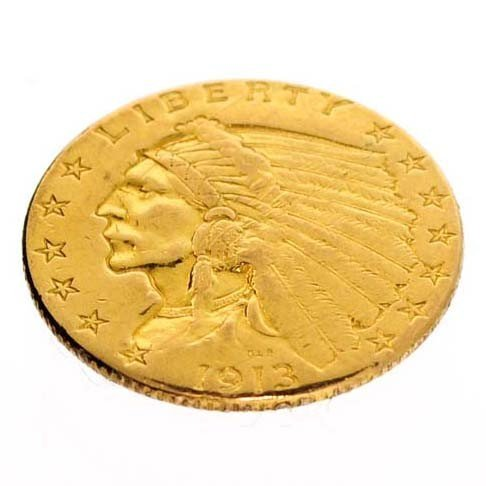 1913 U.S. $2.5 2 Head Gold Coin - Investment