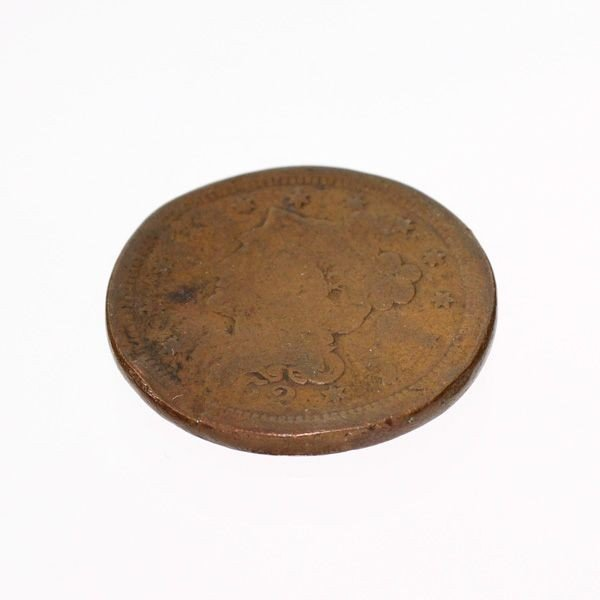1852 Busted Liberty One Cent Coin - Investment