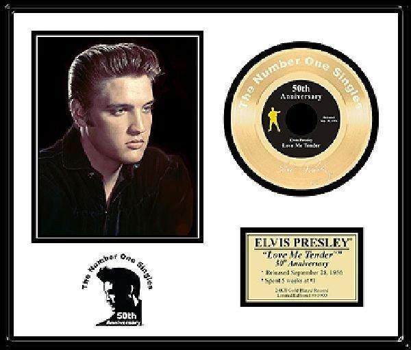 """ELVIS PRESLEY """"Love Me Tender"""" Gold 45-50th Anniversary"""