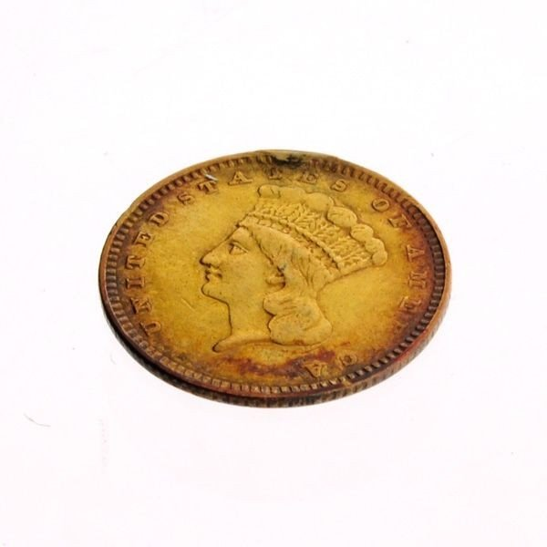 1857 U.S. $1 Indian Head Gold Coin - Investment