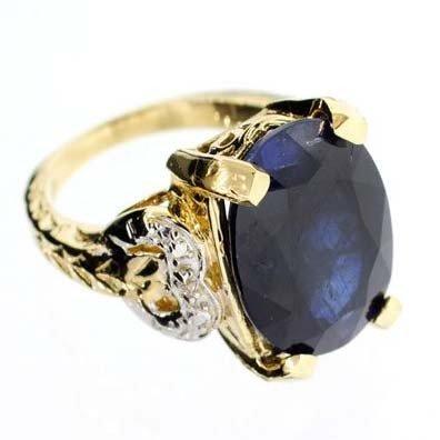 APP: 9.6k 14 kt. Gold,10.30CT Blue Sapphire Ring
